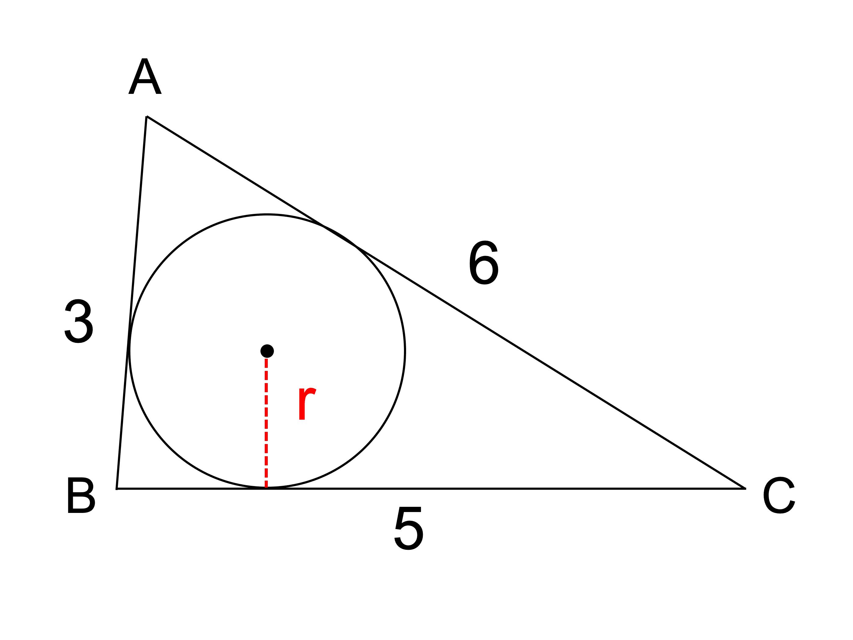 接 半径 内 円 の